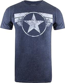 MARVEL Men's Captain America Cap Logo T-Shirt