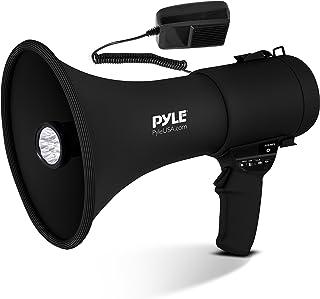 Pyle Portable Compact PA Megaphone Speaker with Alarm Siren & Adjustable Volume - 50W Handheld Lightweight Bullhorn - with...