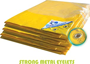 TUFFPAULIN (80X40,Yellow) Tarpaulin Waterproof UV Treated 100% Virgin Extra Strong Quality is 14611:2016 Approved 150 GSM