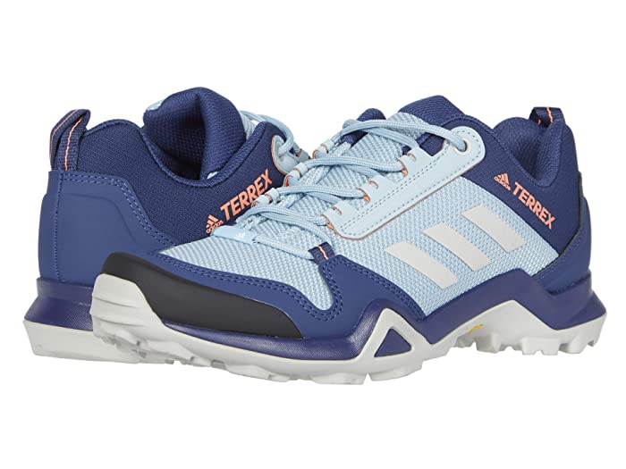 adidas Outdoor  Terrex AX3 (Tech Indigo/Grey Two/Signal Coral) Womens Shoes