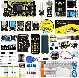 KEYESTUDIO Starter Kit de con Guías Tutorial, Placa Controladora Mega 2560 R3 Kit, Sensor