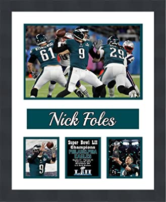 Frames by Mail Nick Foles Philadelphia Eagles 2018 Super Bowl LII (52) Champions Matted