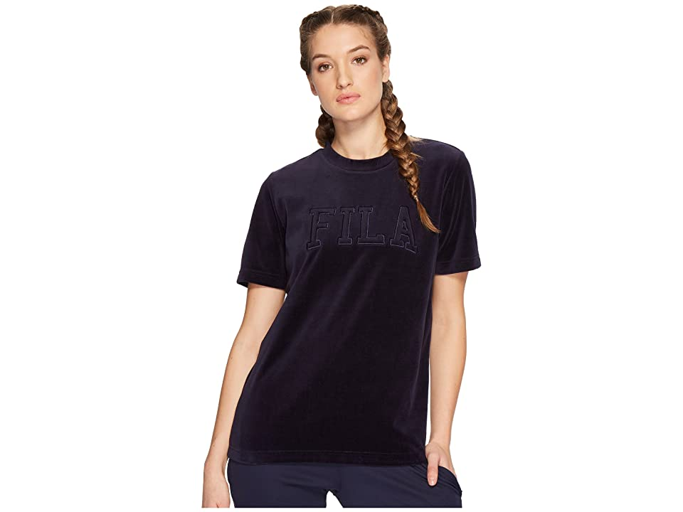 Fila Olivia Velour Tee (Navy) Women