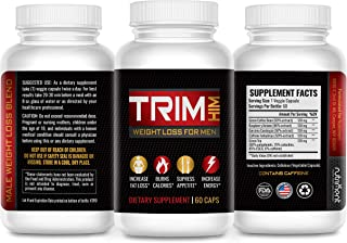 Trim Him- Diet Pills That Work Fast for Men- Rapid Fat Burner and Appetite Suppressant- Lose That Belly Fat Fast Without E...
