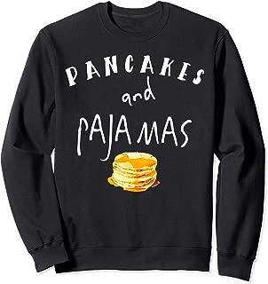 Pancakes and Pajamas Funny Slumber Morning Sweatshirt