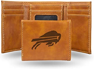 NFL Rico Industries Laser Engraved Trifold Wallet, Buffalo Bills