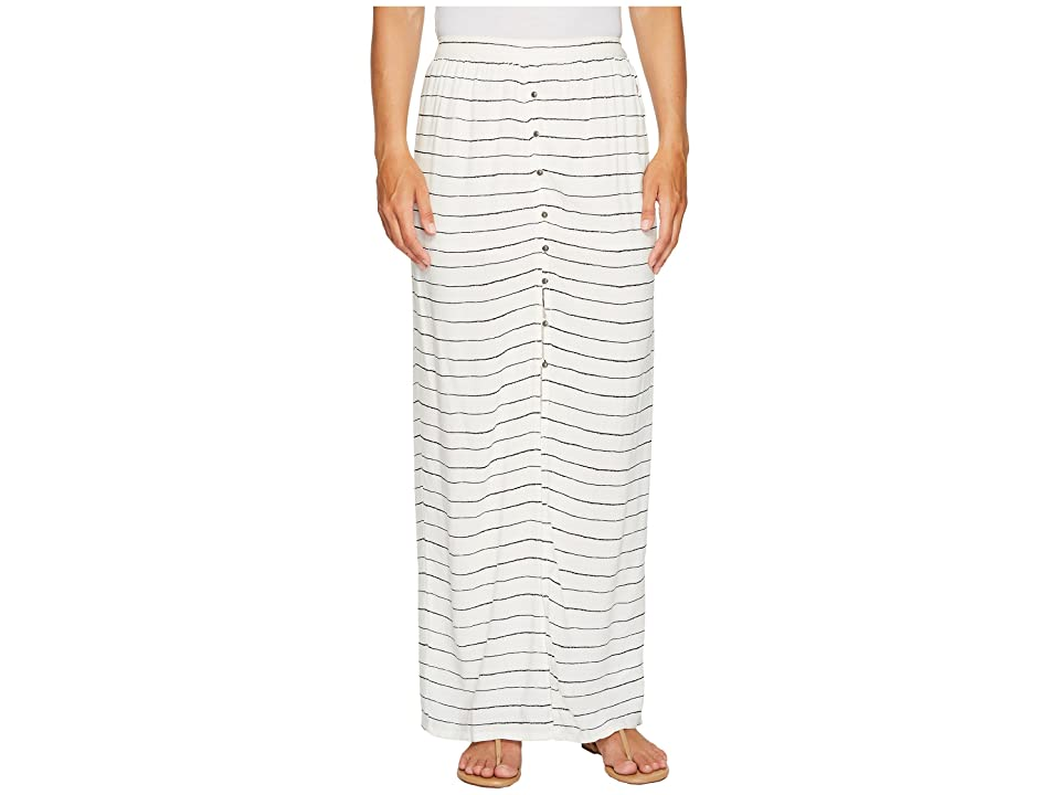 Roxy Speed of Sound Maxi Skirt (Marshmallow Pencil Stripe) Women