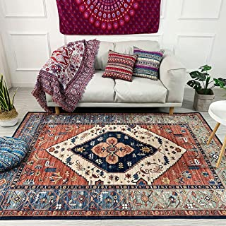 SSDTY Ethnic Style Country Retro Living Room Area Rug, Light Luxury Living Room Area Rug, Coffee Table Rug, Home Nordic Bedroom Full Room Cute Area Rug (Color : F 160x230cm)