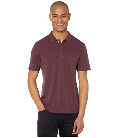 Threads 4 Thought Tri-Blend Baseline Polo (Maroon Rust) Men