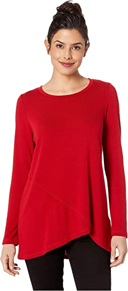 Long Sleeve Crossover Sweater