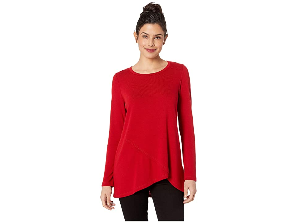 Karen Kane Long Sleeve Crossover Sweater (Red) Women