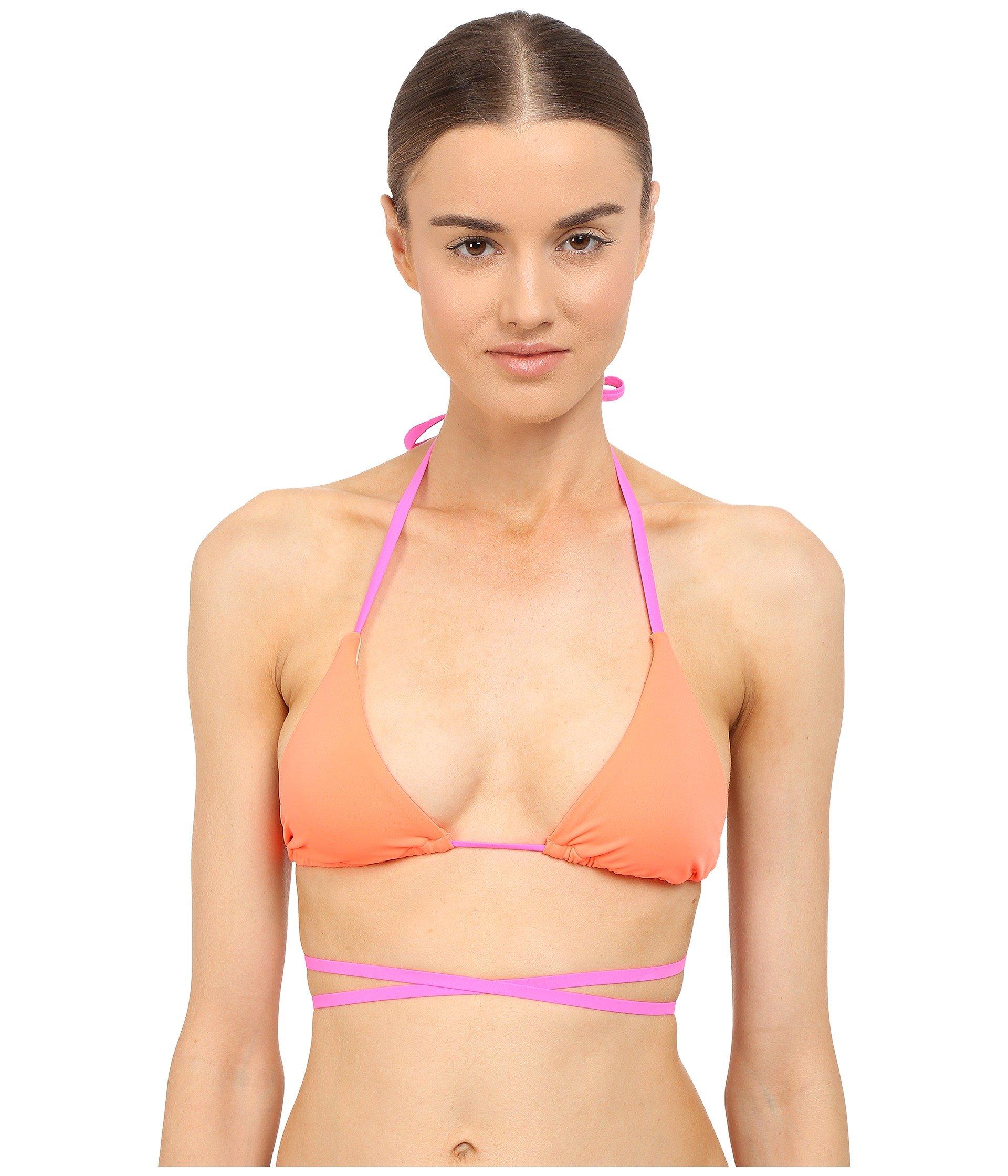 L Agent Eleena Bikini Top In Pink Neon Lemon  9bc25bf3f
