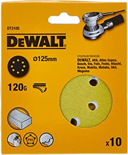 DeWalt Multi Purpose Sanding Discs, 125 mm, DT3105-QZ, 10 Pieces