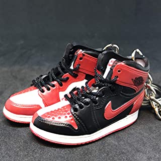 Pair Air Jordan I 1 High Retro Homage To home OG NRG Sneakers Shoes 3D Keychain 1:6 Figure