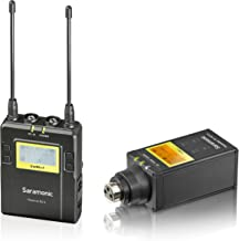 Saramonic UWMIC9 UHF Wireless XLR Microphone System with XLR Plug-in Transmitter, & Receiver Unit with Camera Mount & XLR/3.5mm Outputs