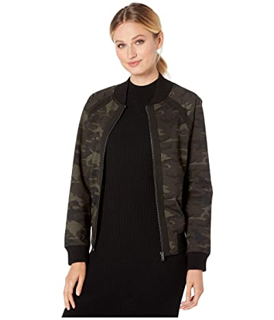 Liverpool Bomber Jacket in Camo Knit (Olive/Brown) Women