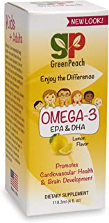 GreenPeach Omega 3 Fish Oil Supplement for Kids with EPA & DHA to Support Brain & Heart Health, Immune System and Vision. ...