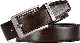 LOREM Reversible Black And Brown Pu-Leather Formal Belt For Men Bt01Bkl04