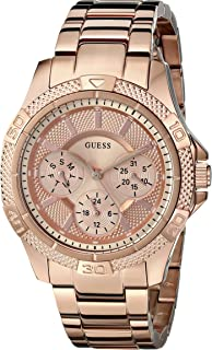 GUESS Women's U0235L3 Dynamic Feminine Rose Gold-Tone Mid-Size Sport Watch