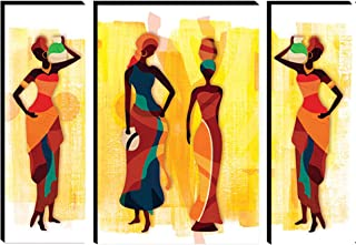 SND Art Set of 3 Modern Art MDF Frame Painting for Living Room Wall Painting for Home Decoration (12 X 4.5 inch,12 X 9 inc...