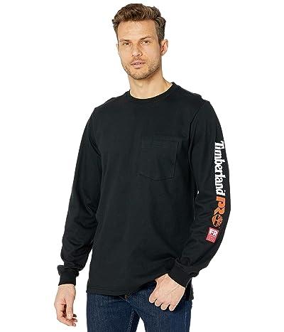 Timberland PRO FR Cotton Core Long Sleeve Pocket T-Shirt with Sleeve Logo