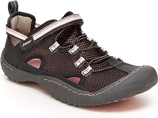 JSport by Jambu womens Jaguar Mesh Sneaker, Charcoal/Pink, 7.5 US