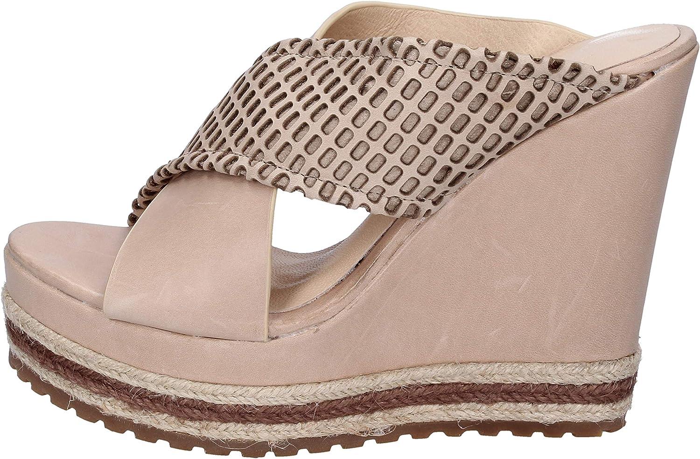 FEMME PLUS Sandals Womens Leather Beige