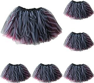 5-Pack Kids Tutu Princess Fairy Birthday Party or Dance Costume Tutus - Girls Tutu Skirt, Costume Favors Set