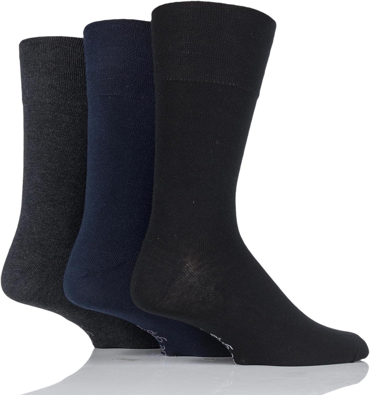 Hommes Gentle Grip Non élastique chaussettes UK 6-11 EU 39-45 Noir Achat immédiat 3 6 Pack de 12