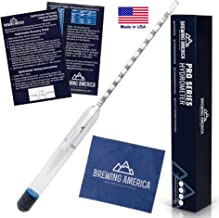 American-Made Precision Hydrometer Alcohol by Volume ABV Tester – Accurate Final Gravity Testing, Finished Beer - Pro Series Finishing NIST Traceable (SINGLE) Brewing America
