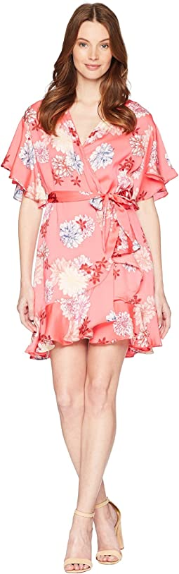 Kirsten Blossom Printed Wrap Dress