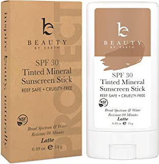 Sponsored Ad - Mineral Tinted Sunscreen Stick - Zinc Oxide Sunscreen Lotion Stick Made with Organic Ingredients, Best Sun ...