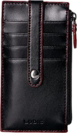 "Lodis Accessories Audrey RFID  5"" Credit Card Case w/Zipper Pocket"