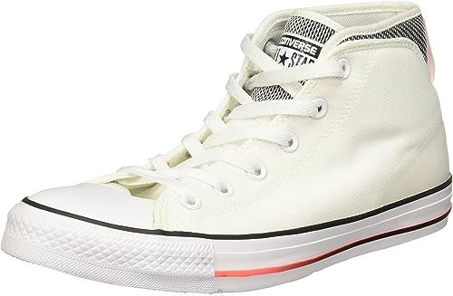 Converse155480C - Chuck Taylor All Star Syde rue Montantes Homme, Blanc (Blanc), Medium 45 EU