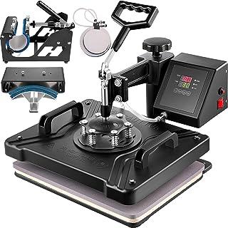 VEVOR 5 in 1 Transferpresse 38x30cm Heißpresse Maschine T-Shirt Presse Maschine Hitzepresse Maschine DIY Heat Press mit Digitaler LED-Temperatur- und Zeitcontroller 5 in 1