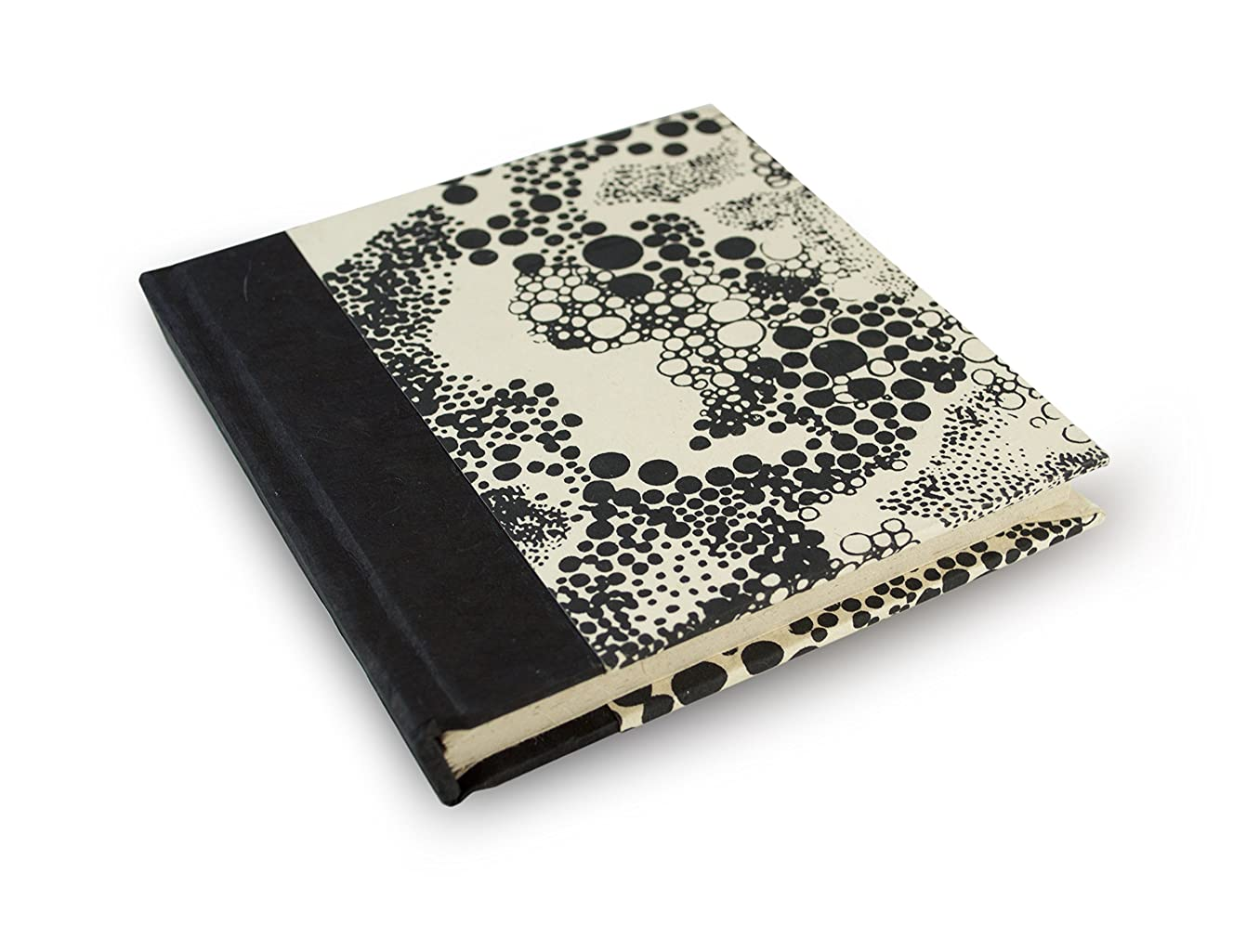 Nepali Dot Journal with hand-made Lokta paper. Made in Nepal. (6x6 Inches)