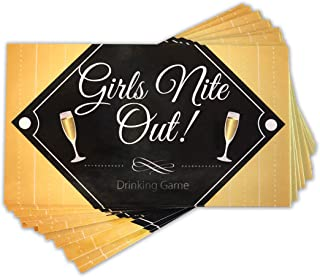 Girls Nite Out Party Game - 24 Fun and Naughty Dare and Drink If Cards, Bachelorette and Bridal Party Supplies & Decorations