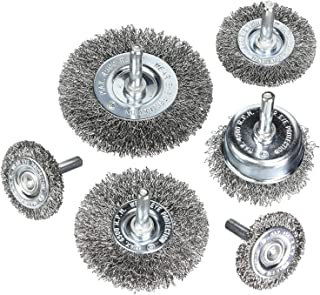90 Pcs Wire Brushes Set STRAWBLEAG Steel Wire Wheels Brushes Pen-Shape Bowl-Shape T-Shape Brushes Set Kit Accessories for Dremel Rotary Tools