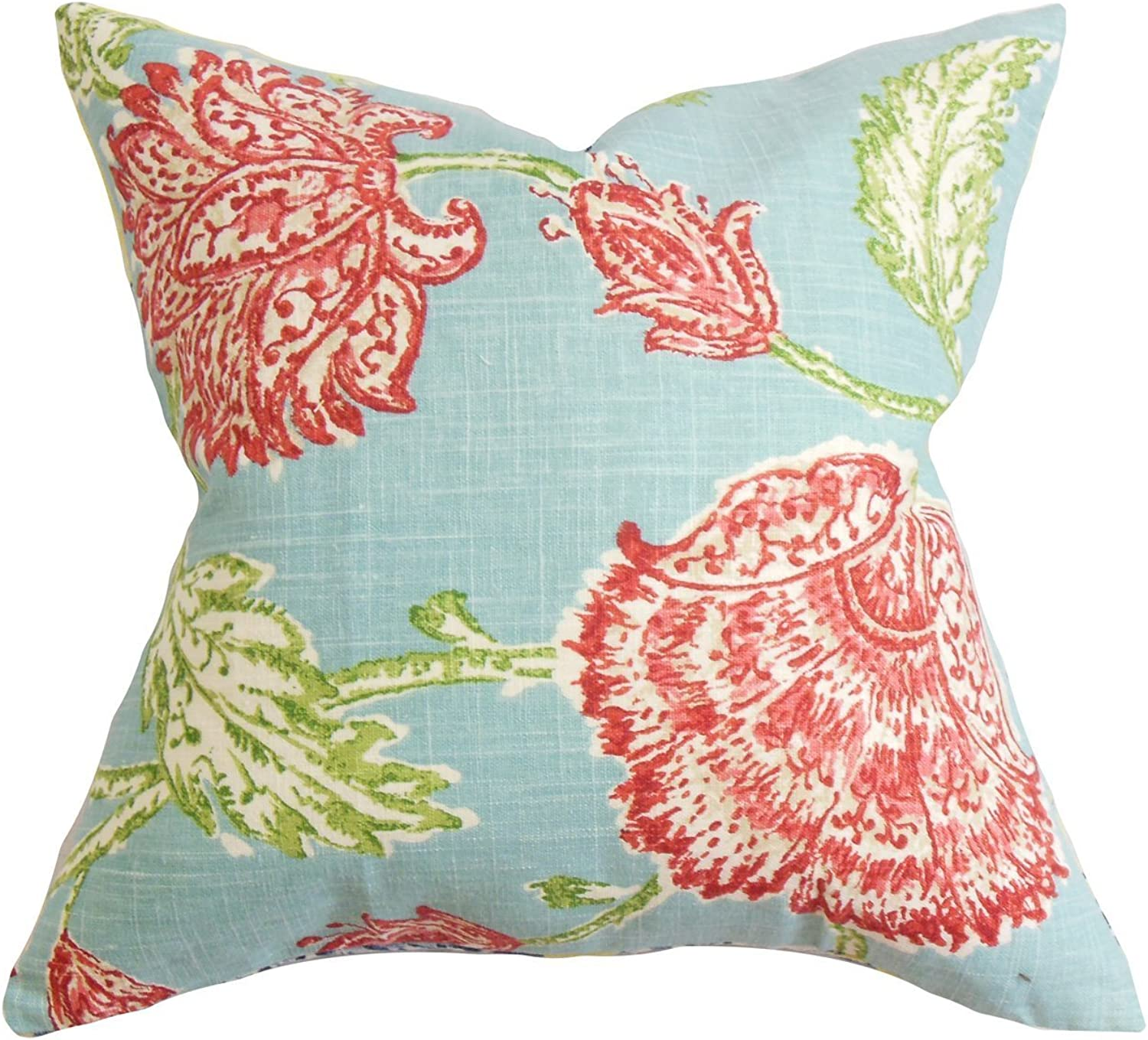 The Pillow Collection Behati Floral Throw Pillow Cover