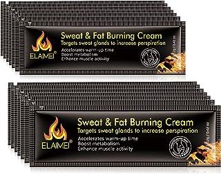 10 Pack Workout Enhancer Sweat Cream,Fat Burner Cellulite Creams Tighten Muscles, Slimming Enhancer Workout Coconut Body C...