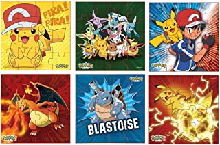 Myesha Toys Pokemon Characters Zigsaw Puzzle, Pack of 6, Total 80 Pieces, Assortment 2