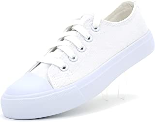 Kid's Unisex Canvas Shoes Sneakers Toddlers Fashion Lace Up Boys Girls Solid Colors Vulcanized Rubber Low Top Classic Tennis