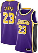 Nike Lebron James Los Angeles Lakers NBA Jordan Brand Boys Youth 8-20 Purple Statement Edition Swingman Jersey