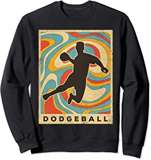 Vintage Dodgeball Sport Retro Poster Gift Sweatshirt