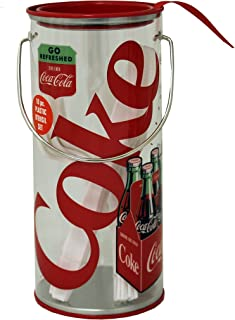 The Tin Box Company 776007-12 Coca Cola Clear Tin Storage Container with Utensils