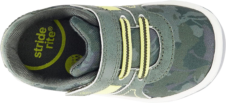 Stride Rite Boy's SR Thompson Sneaker, Green Camo, 8 Wide Toddler