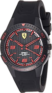 Ferrari Unisex-Adult Quartz Watch, Analog Display and Silicone Strap 840032
