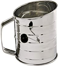 Norpro 3-Cup Stainless Steel Rotary Hand Crank Flour Sifter With 2 Wire Agitator, Silver (136)