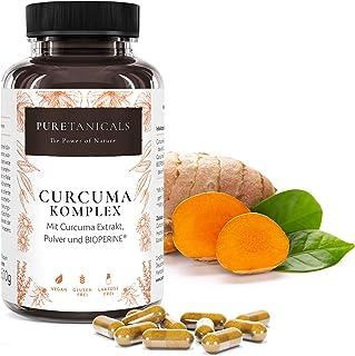 Gurkmeja BioPerine Kapslar Hög Dosering Laboratorium Testad - Organiskt Curcuma Pulver Extrakt + Piperine Svartpeppar Kryd...