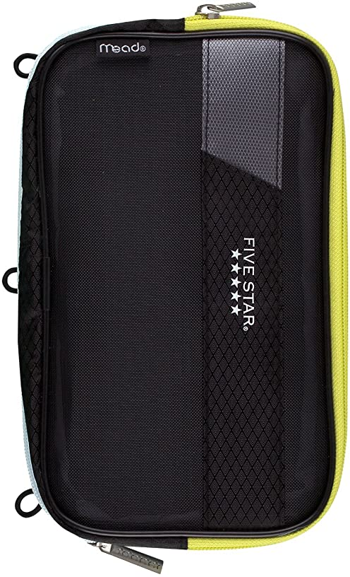 Mead Five Star Expandable Pop-Up Pouch / Case, Dark Gray (50218)